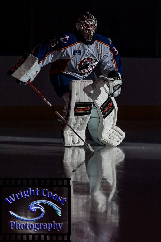 Igor Bobkov skates out during pre-game introductions 2014-2015 Norfolk Admirals