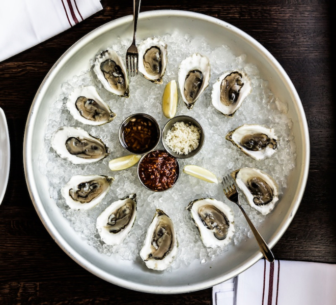 Oysters at Boulevardier