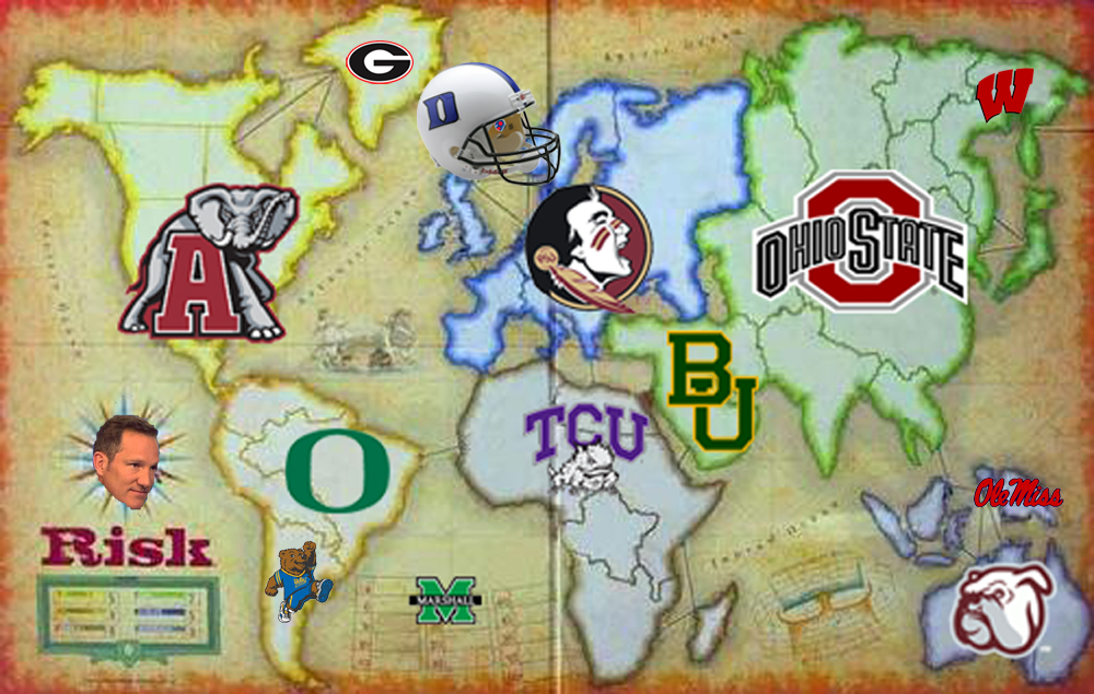 The College Football Playoff Risk board