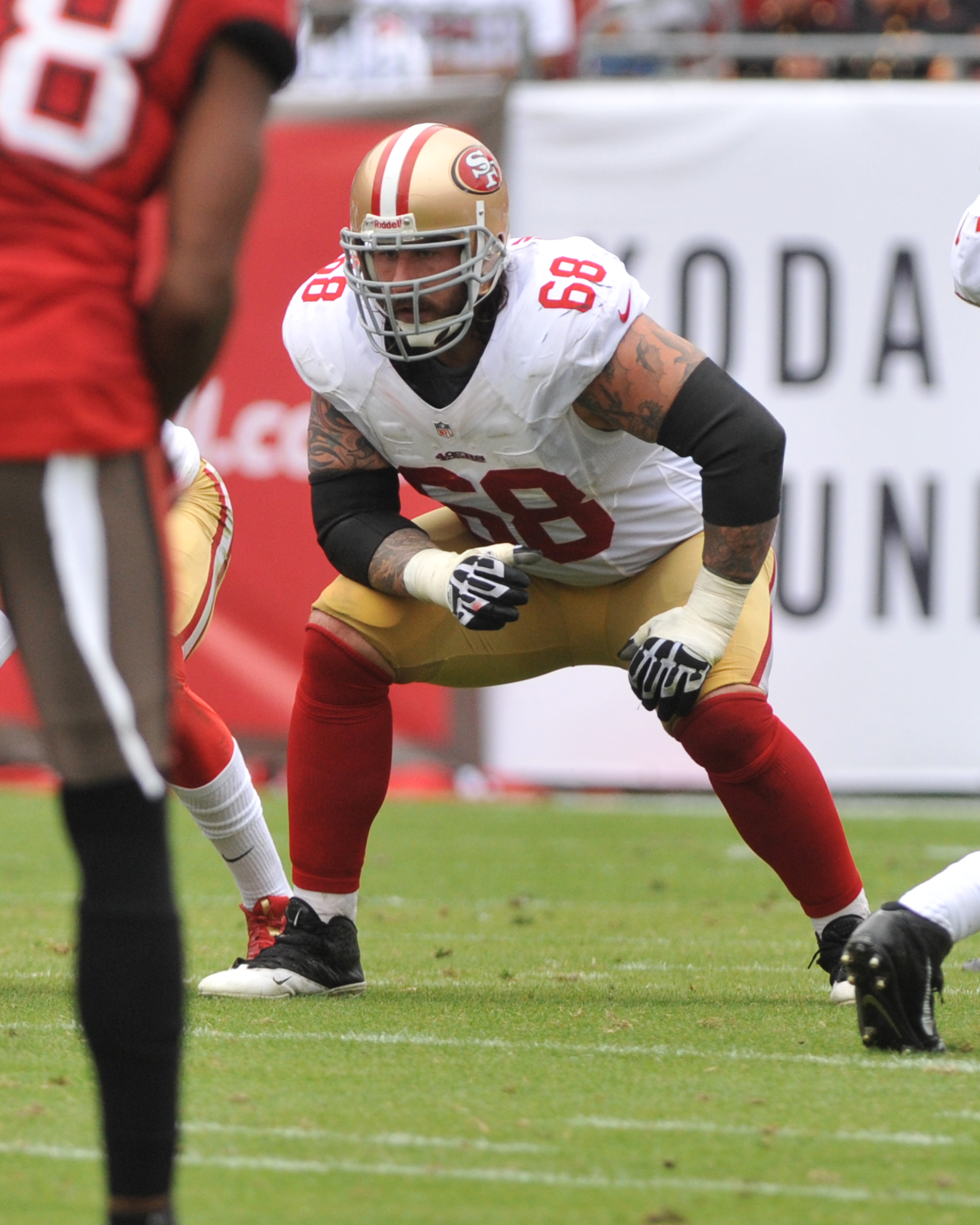 Adam Snyder with the 49ers