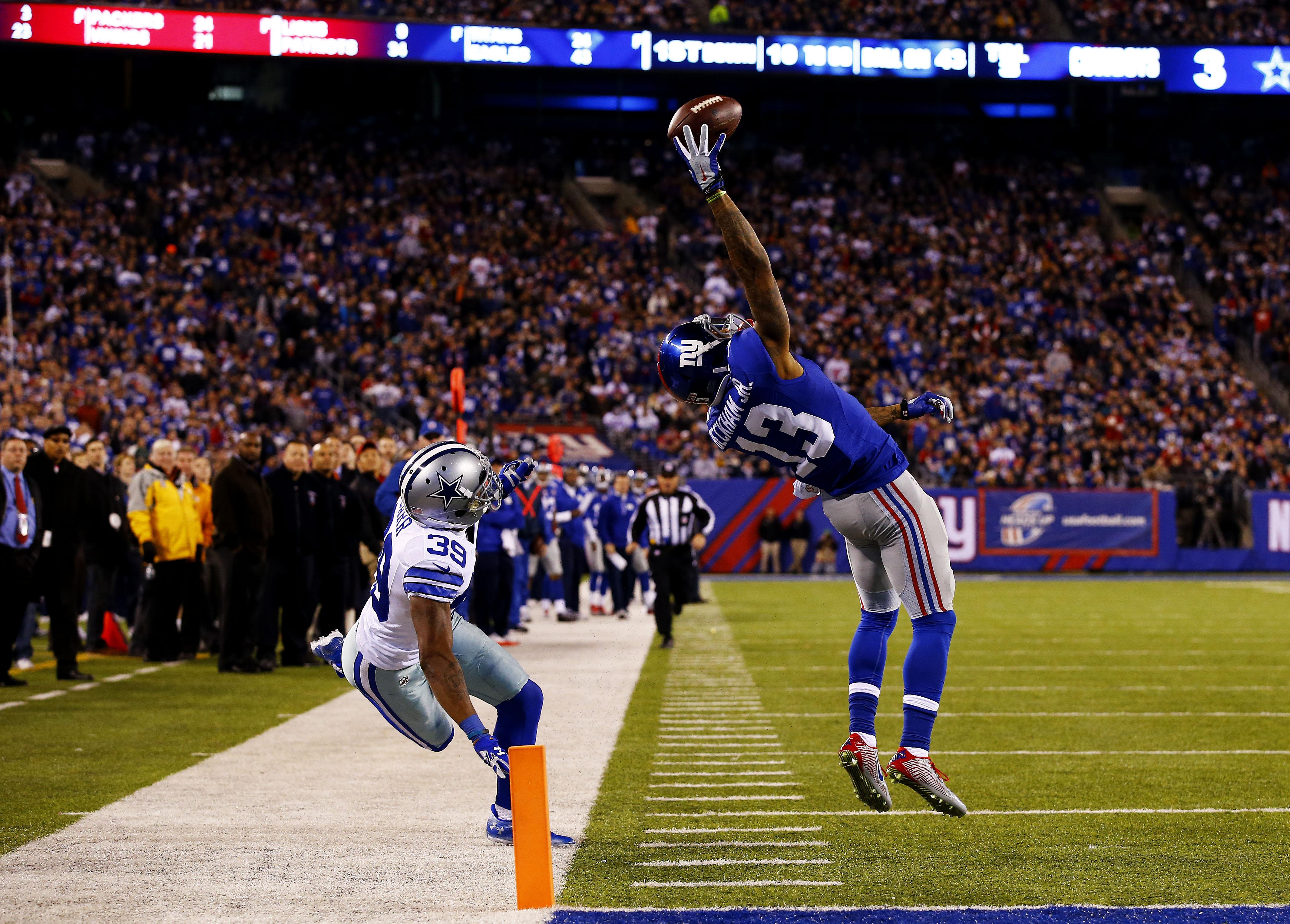 Odell Beckham makes an incredible 43-yard touchdown catch