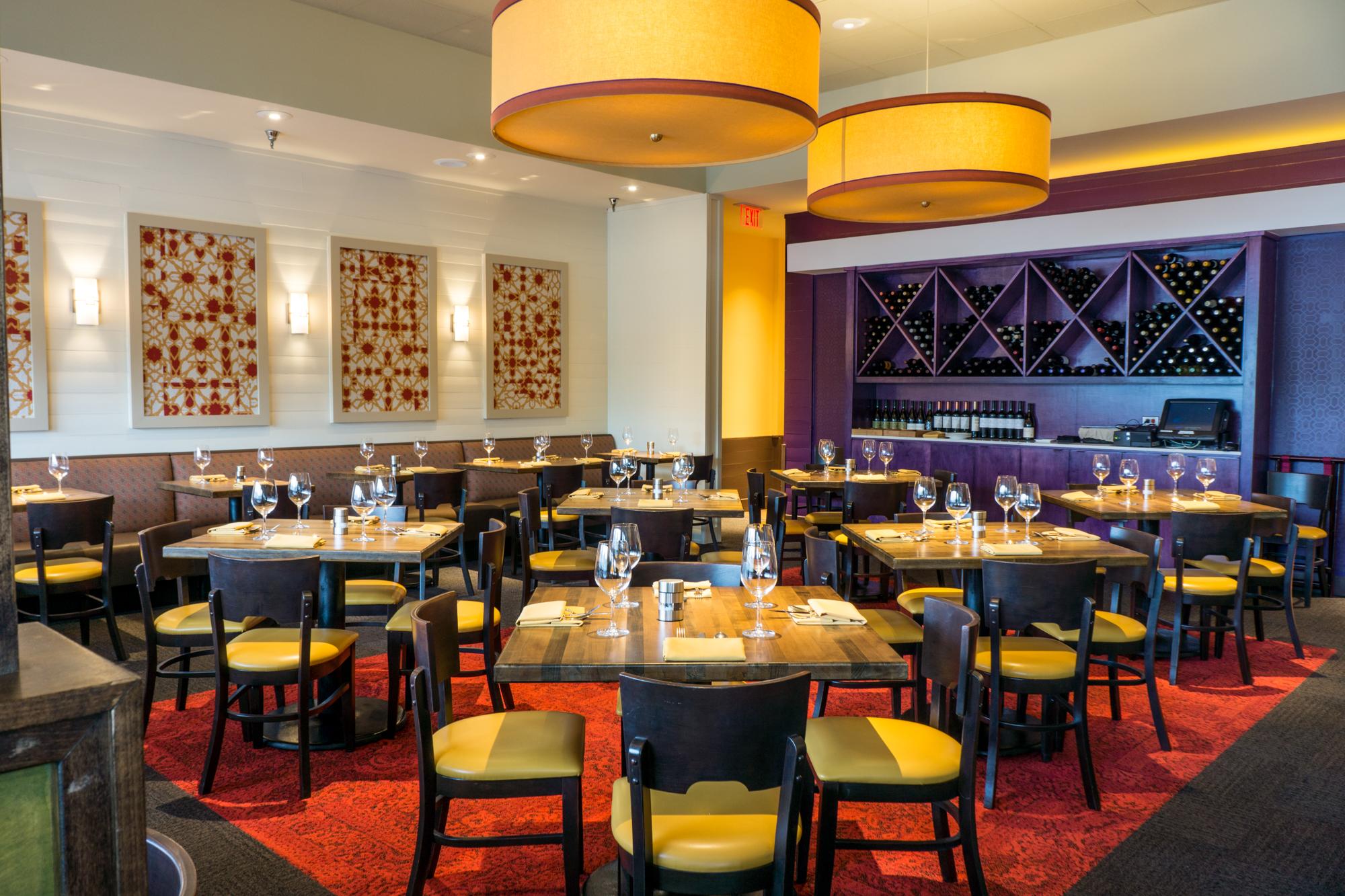 Inside OSO Food & Wine.