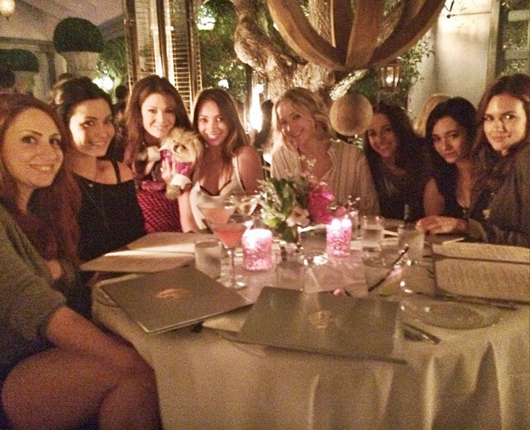 Jennifer Lawrence and friends at PUMP in West Hollywood