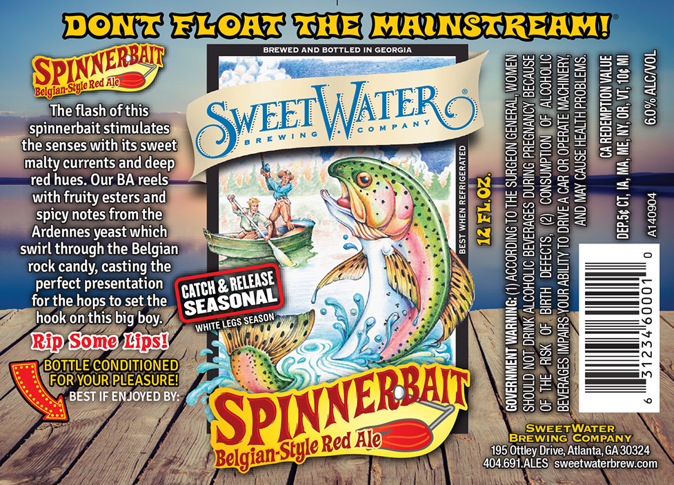 The SweetWater Spinnerbait label.