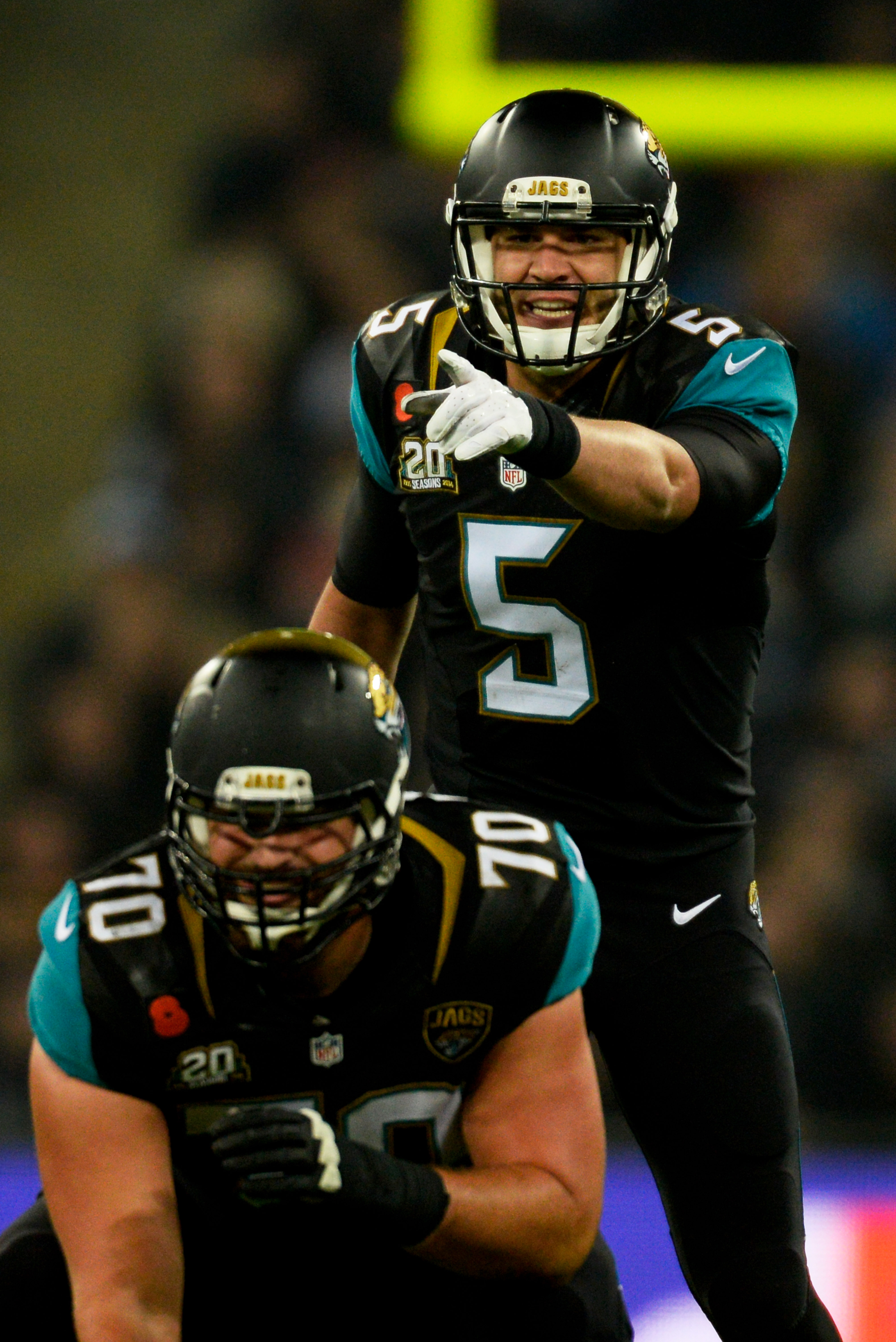 Blake Bortles leads the Jags against the Giants on Sunday