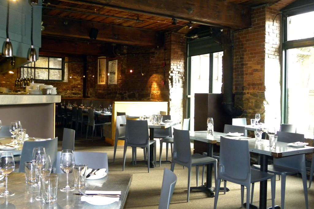 The semi-private dining room at The Blue Room