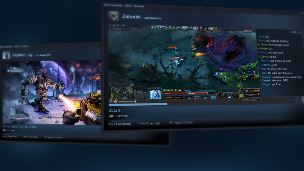 Valve brings livestreaming to Steam with Steam Broadcasting