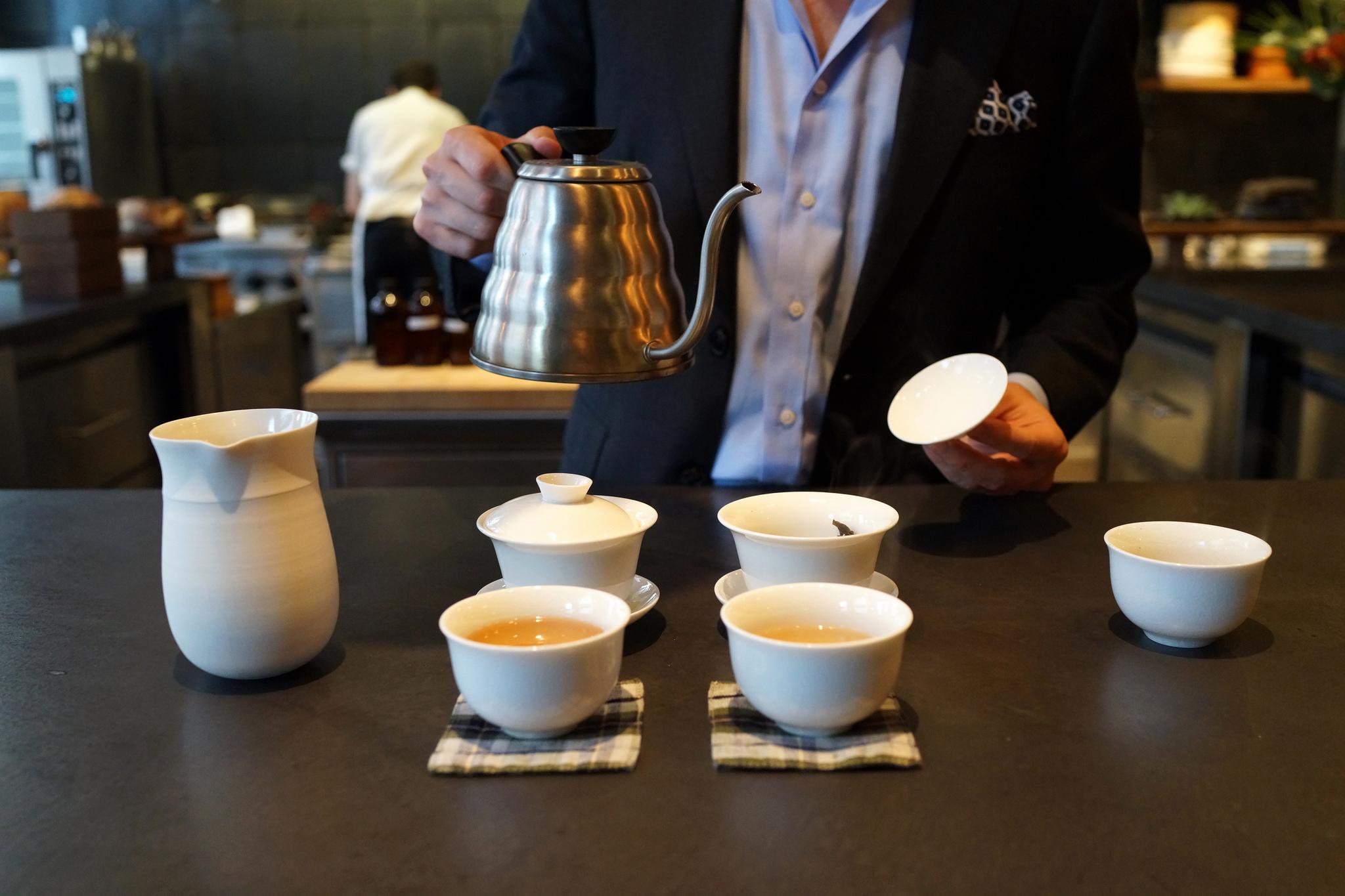 Tea service at Atera