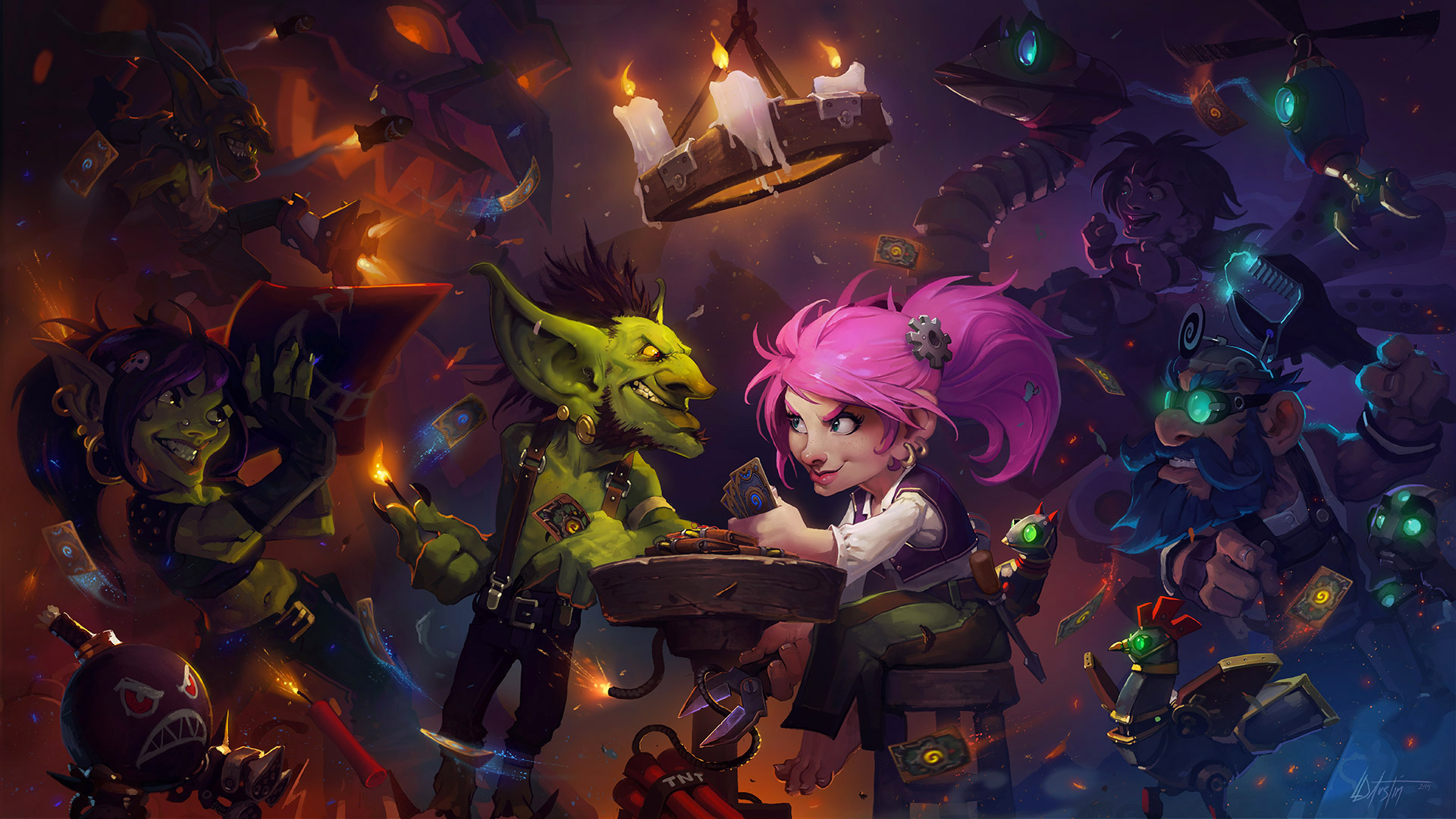 Hearthstone players can check out Goblins vs. Gnomes expansion cards right now
