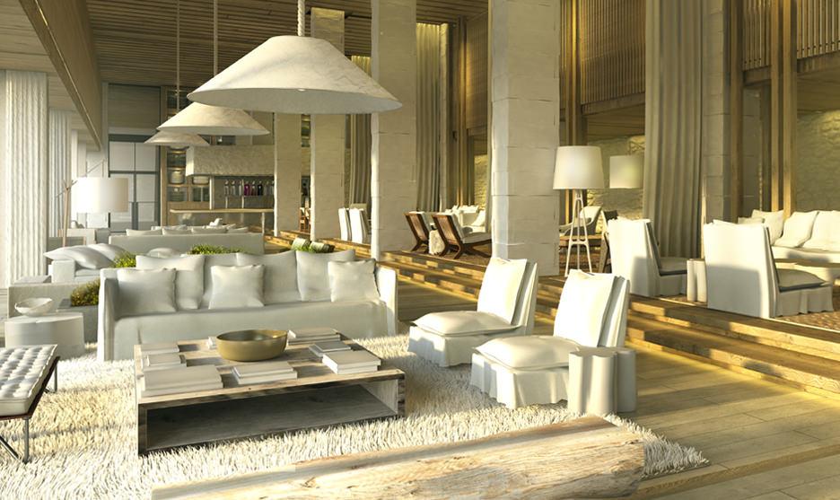 1 Hotel lobby.