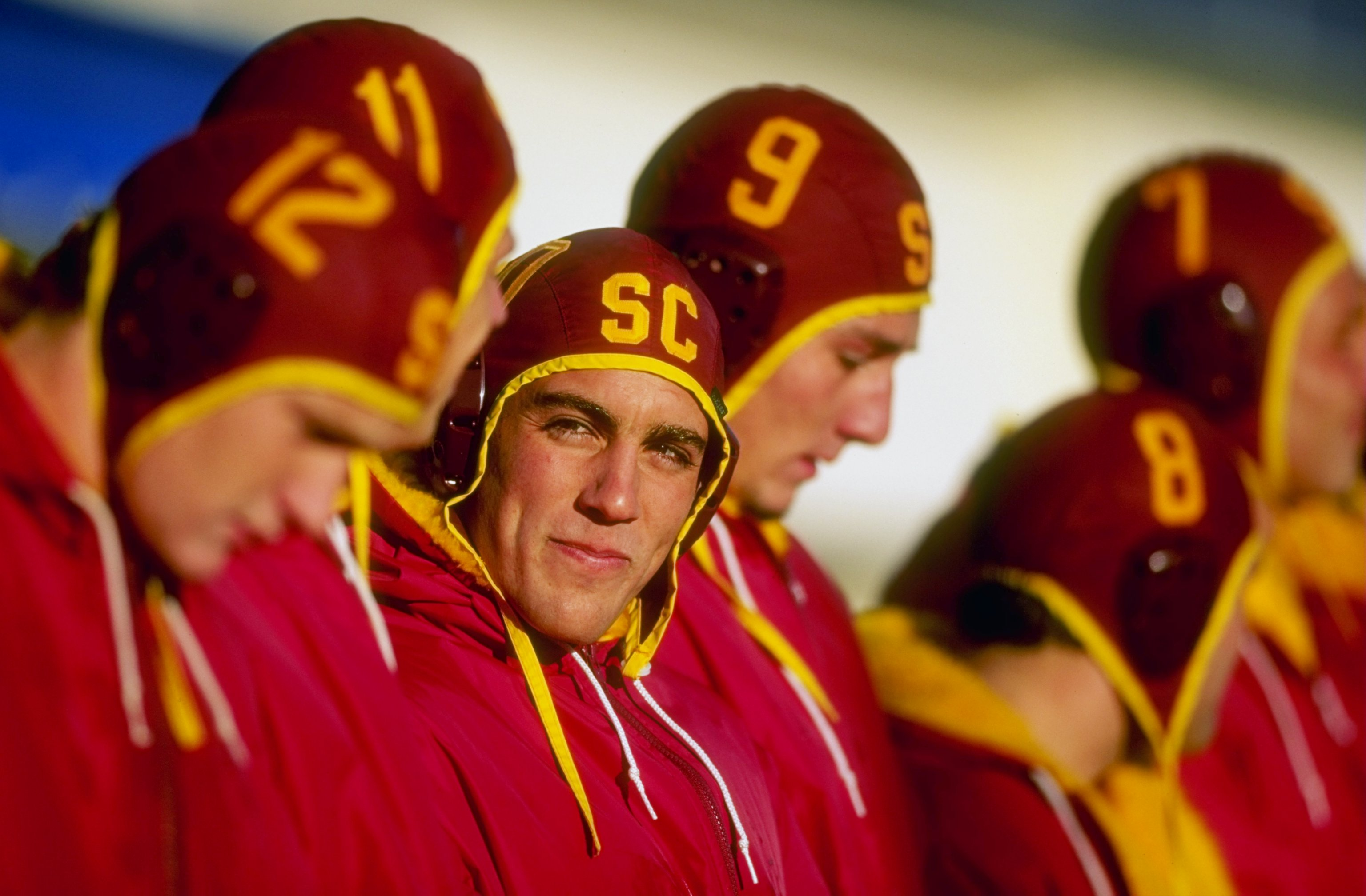 This is the 1998 USC Water Polo team that won the program's first national championship. Today, the Trojans go for their tenth.