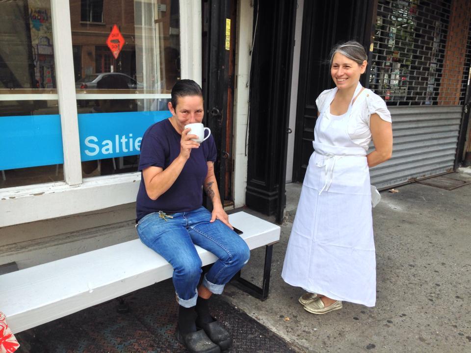 Saltie chefs Rebecca Collerton and Caroline Fidanza