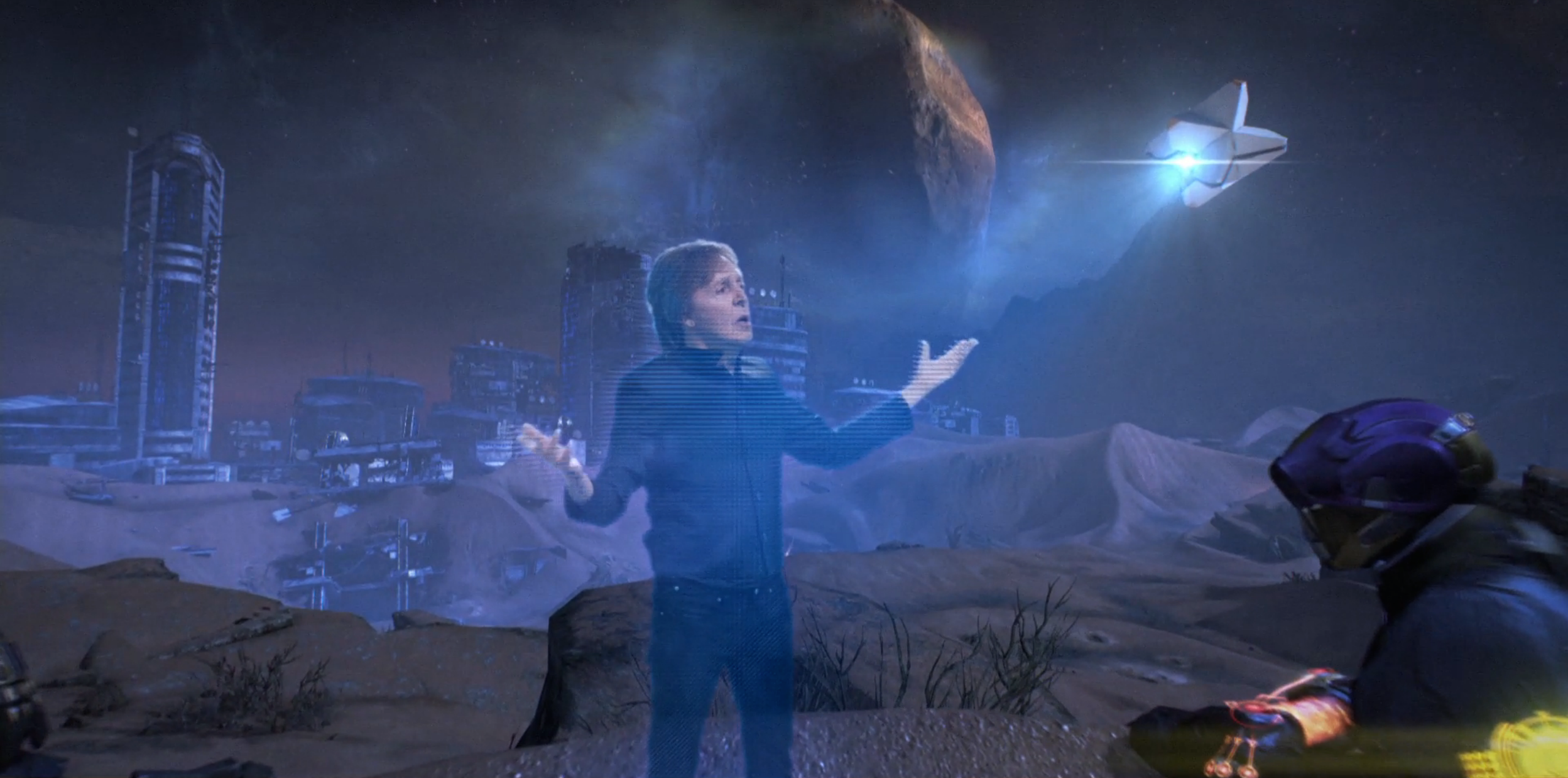 Destiny's Paul McCartney song is now a music video with a Beatles hologram