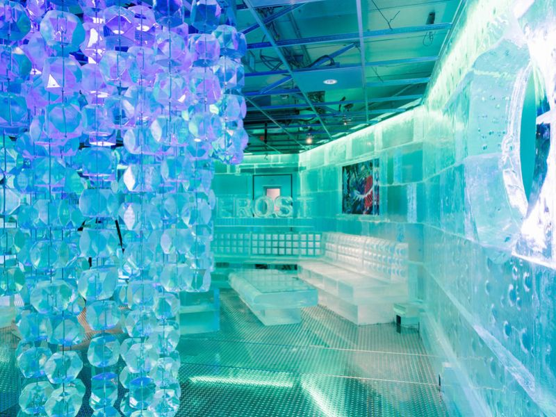 Frost Ice Bar, a Faneuil Hall venue that is considerably colder than The Polar Bar will be, most likely.
