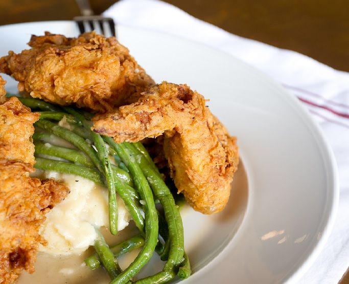 Smoked Fried Chicken, one of the few lunch offerings served at Prohibition Supperclub & Bar
