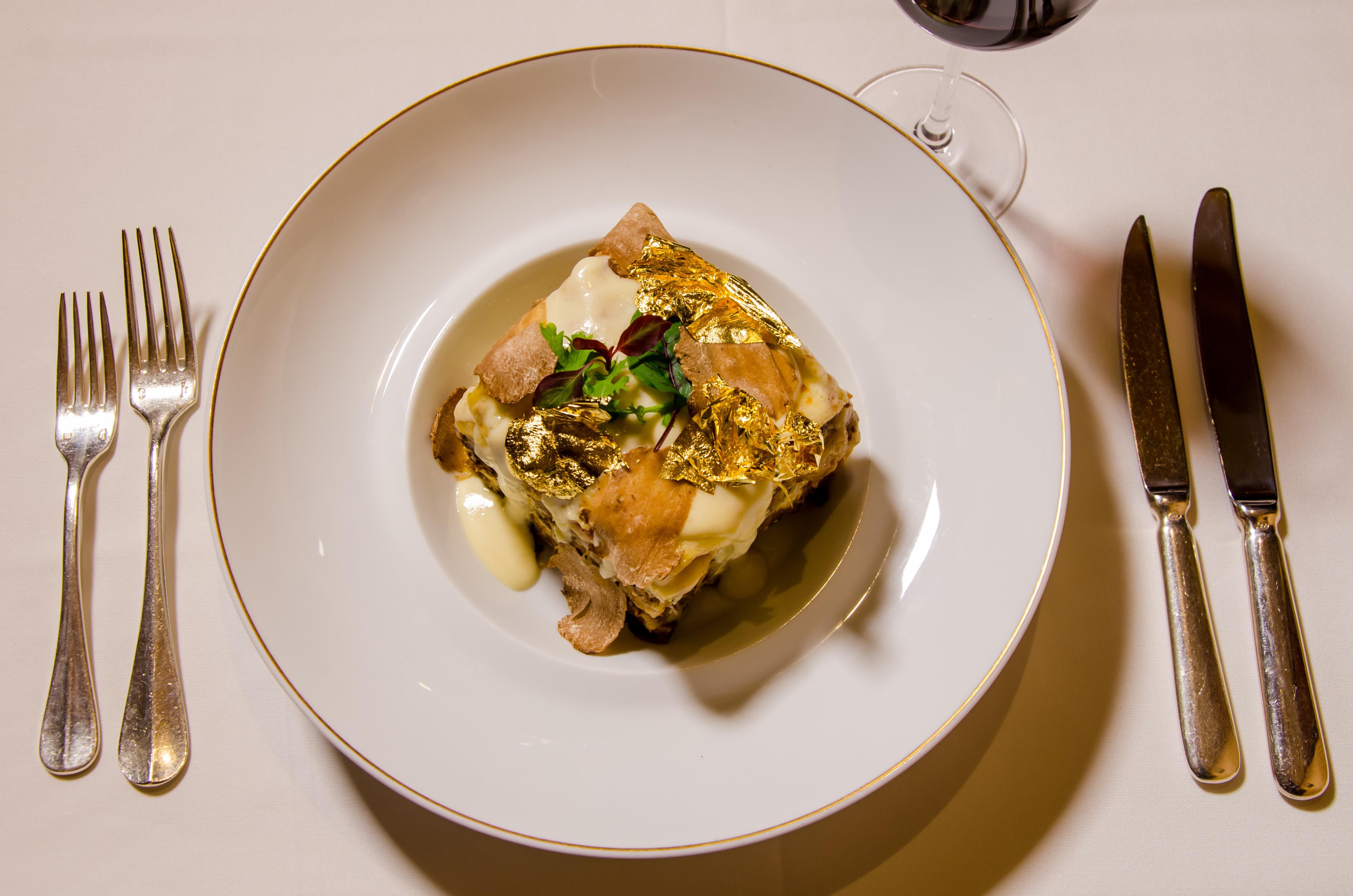 """Portofino """"Diamond and Gold"""" lasagna"""