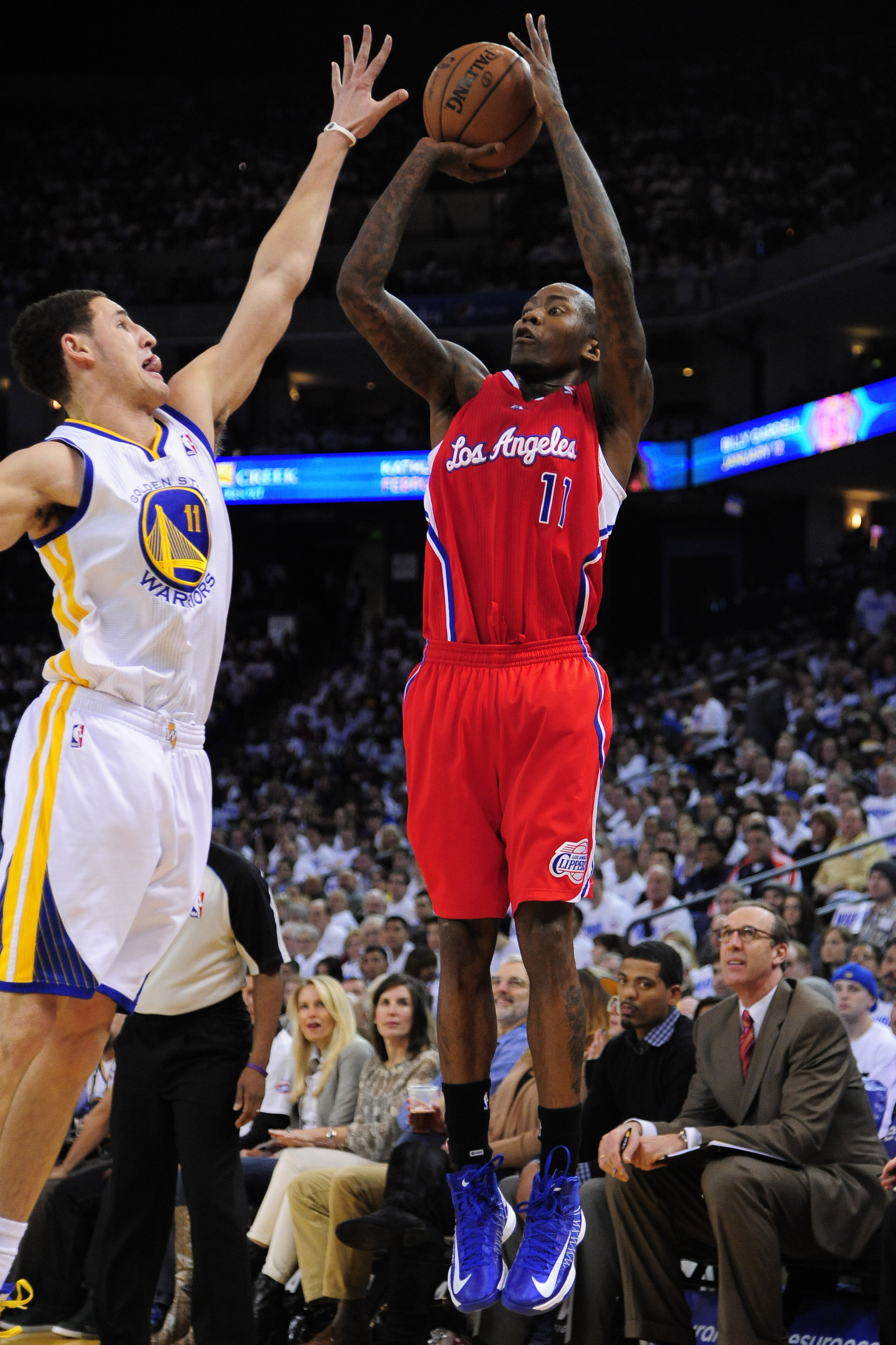 Klay Thompson (L) and Jamal Crawford (R) led the way for the Pacific Northwest Wednesday night.