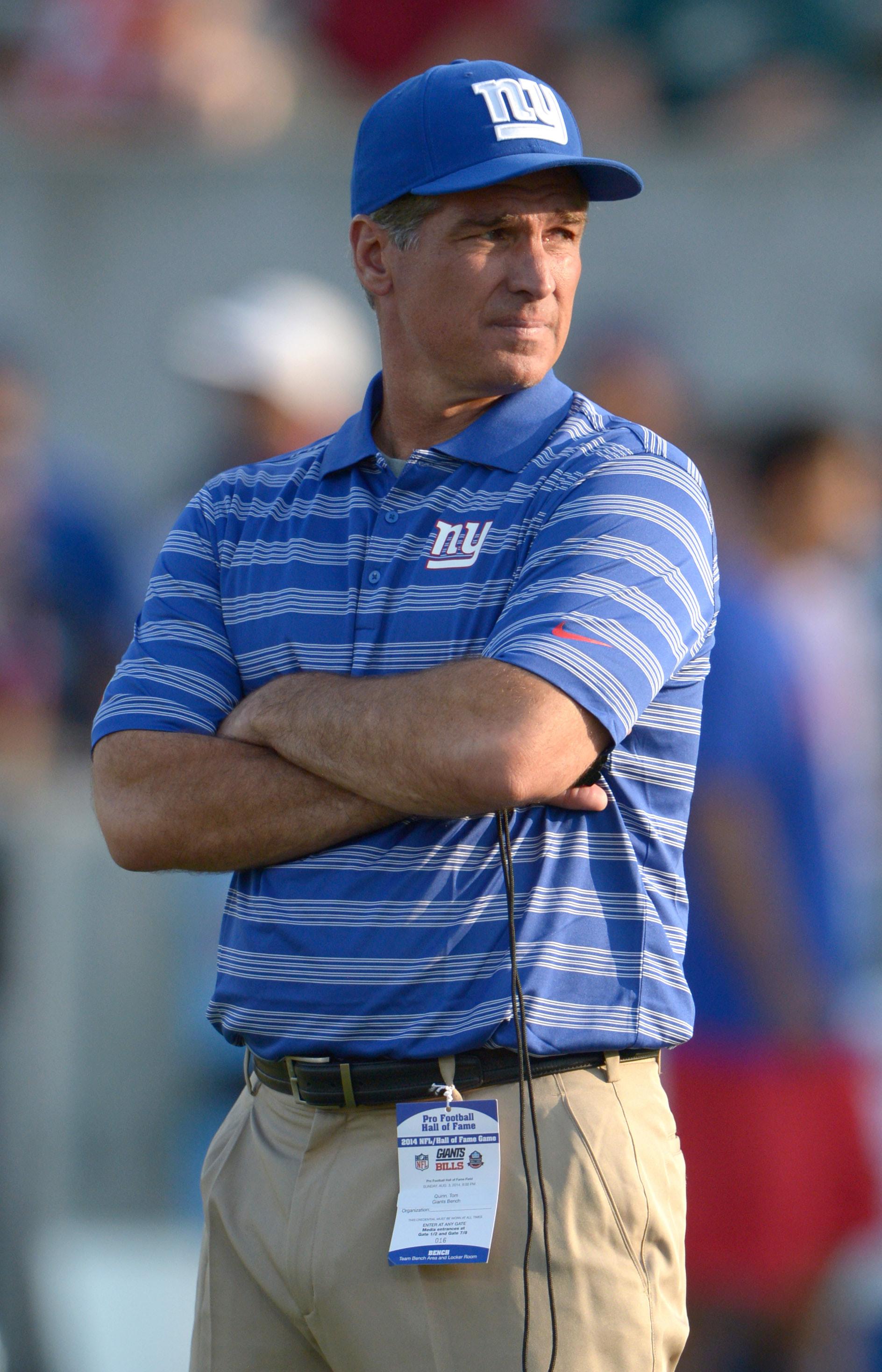 Giants special teams coach Tom Quinn