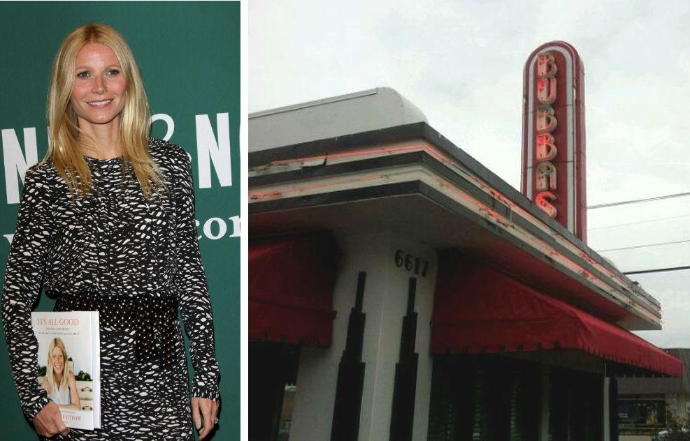 Gwyneth Paltrow probably didn't go to Bubba's.