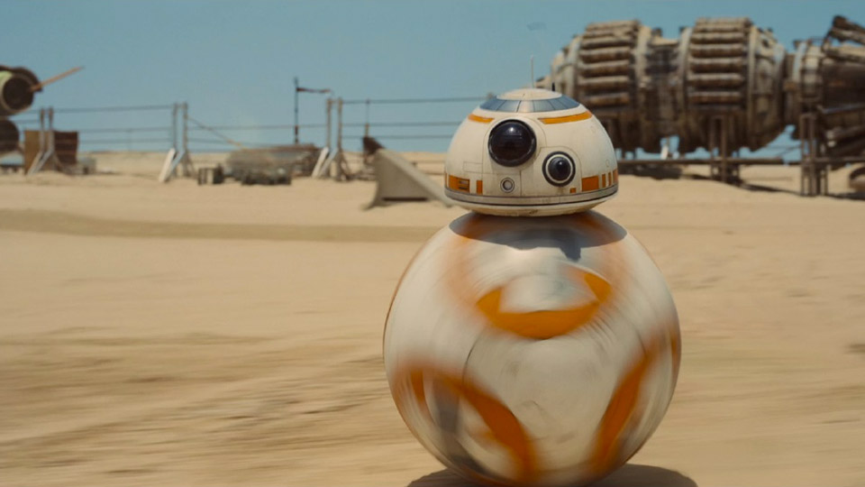 Star Wars: The Force Awakens' crazy rolling ball droid is a practical effect, not CGI