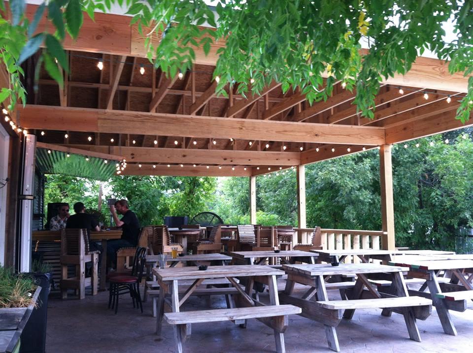 The patio at Ten Bells Tavern.