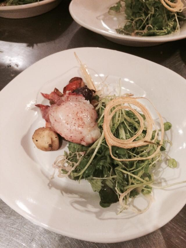A course at a Yemans Street pop-up hosted by chef Brendon Edwards.