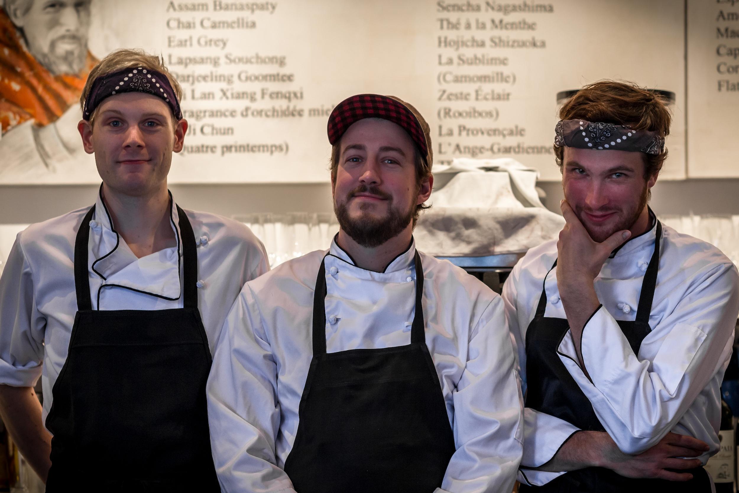 The kitchen crew at Salmigondis