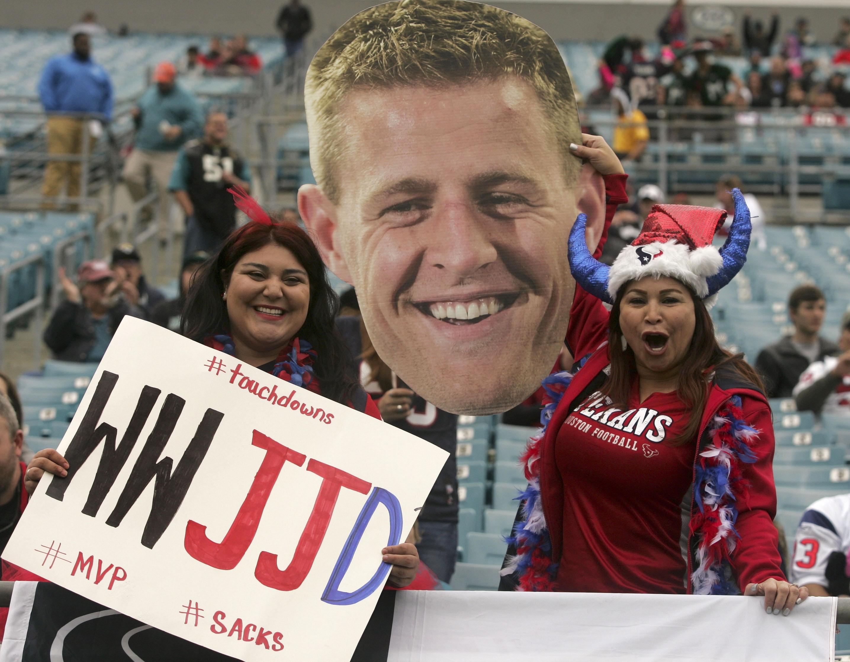 Texans fans are somewhat fond of J.J. Watt.