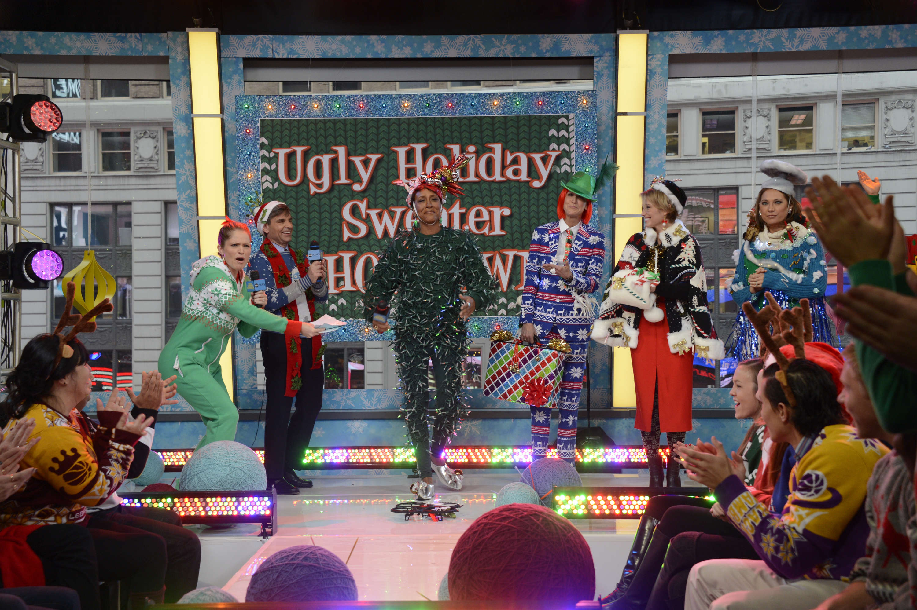 Good Morning America's annual ugly sweater party.