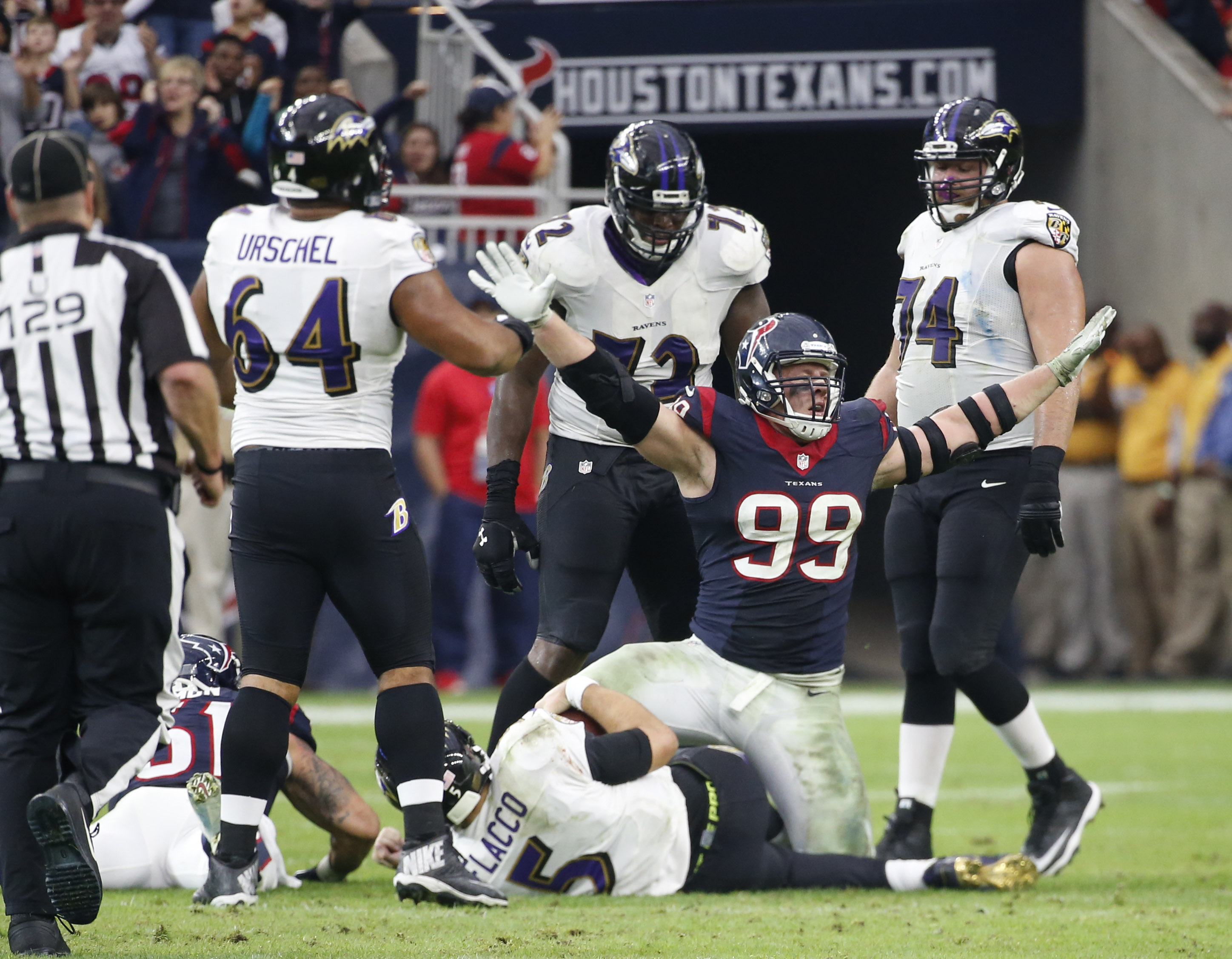The Browns must do this on Sunday without the benefit of J.J. Watt.