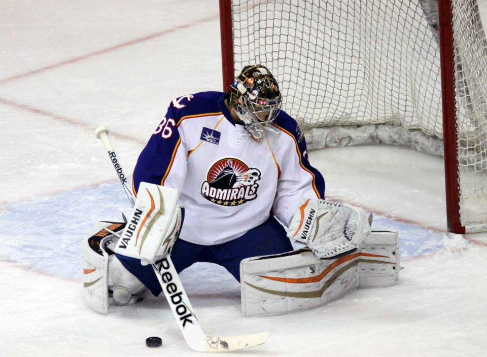John Gibson makes his return to the Norfolk Admirals at Norfolk Scope 12-20-2014.