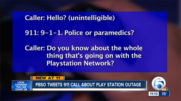 This kid called 911 over the PSN outage