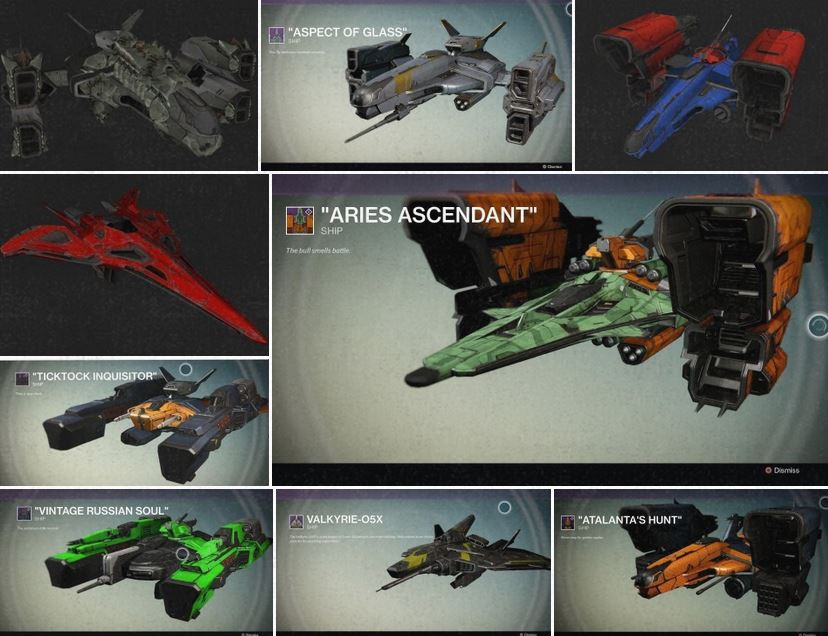 A guide to finding all of Destiny's legendary jumpships