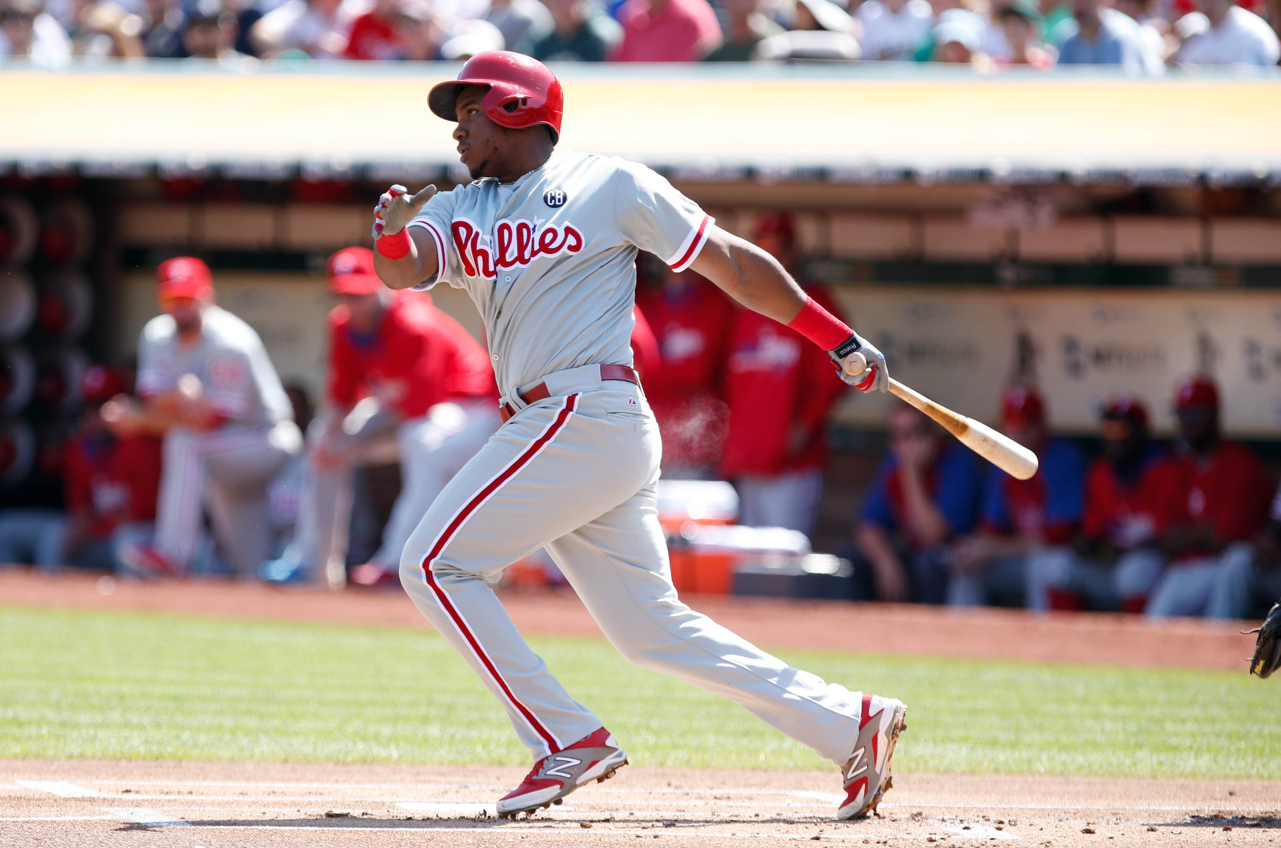 The second best prospect in the Phillies system, 3B Maikel Franco.