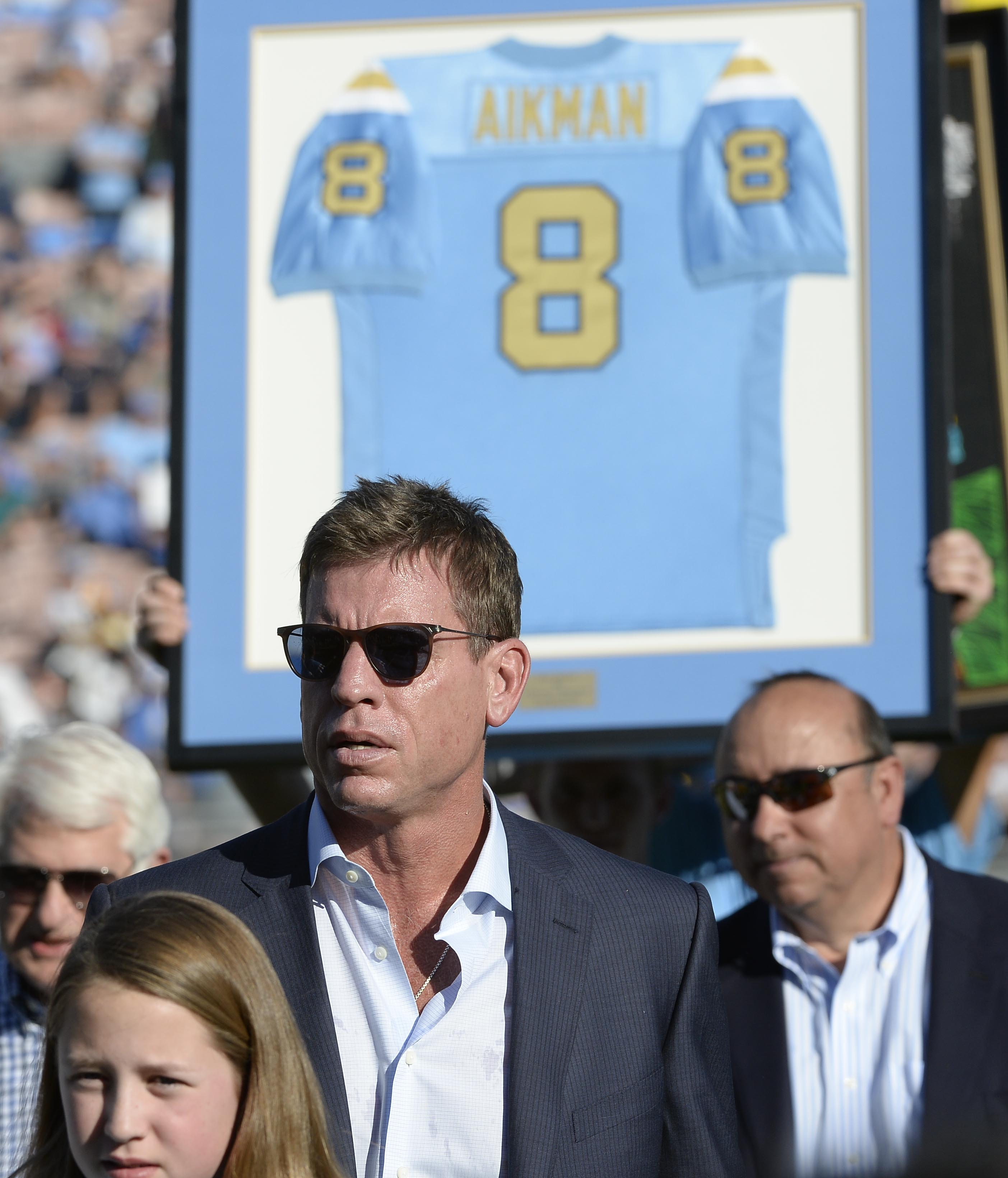 At UCLA's last game, they ruined Troy Aikman's jersey retirement.