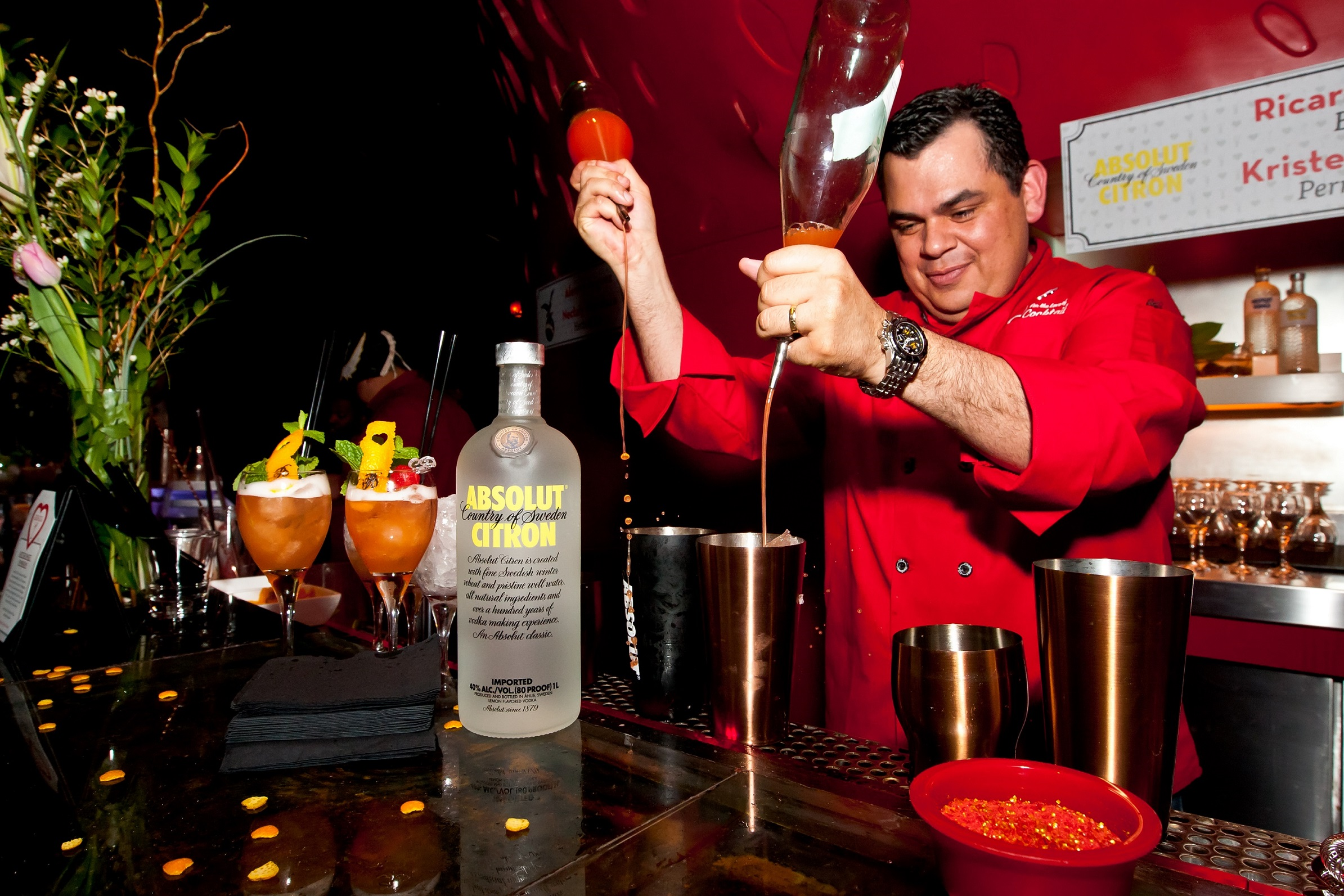 Ricardo Murcia at the 2014 For The Love Of Cocktails.