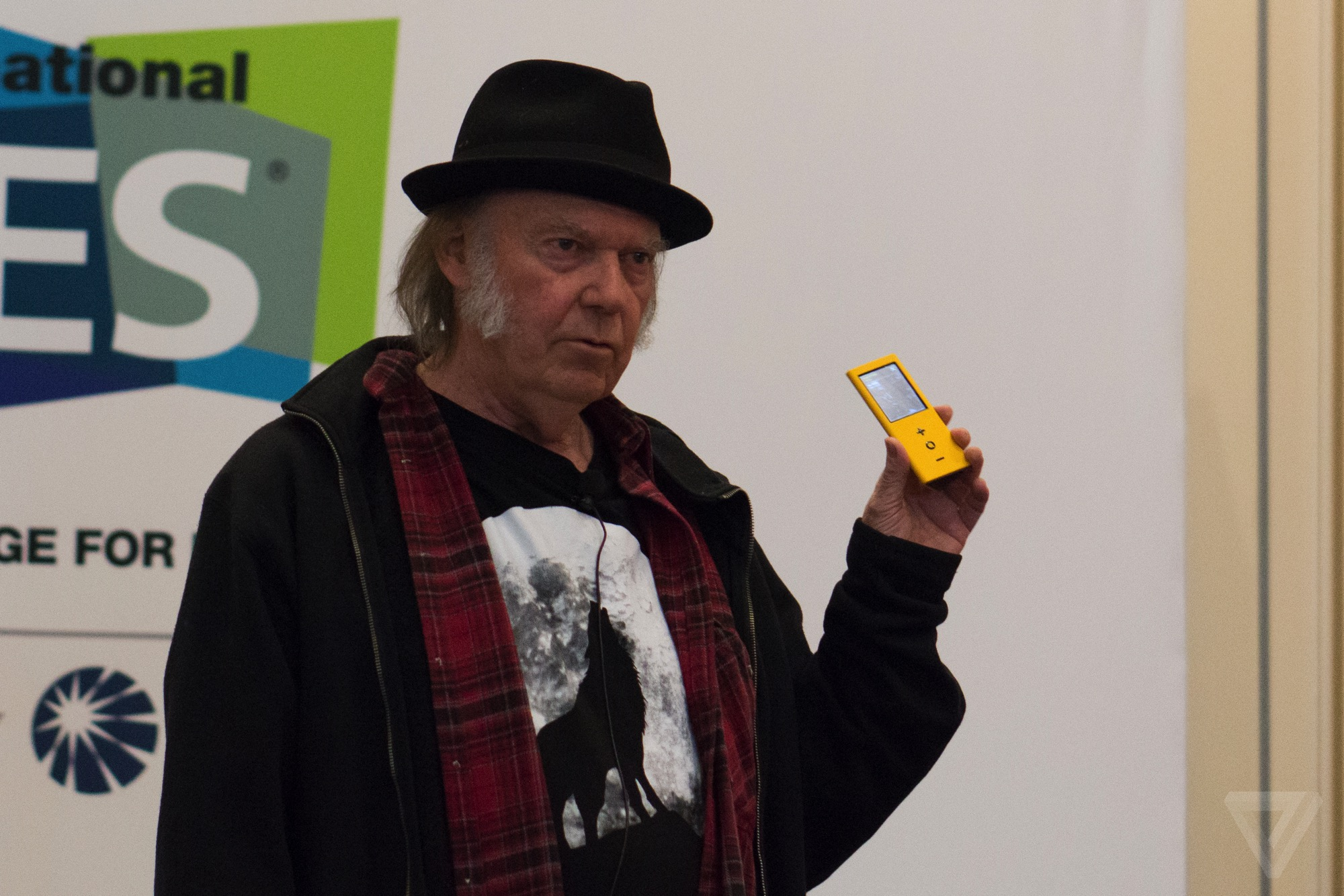 Neil Young's high-quality Pono music player goes on sale Monday for $399