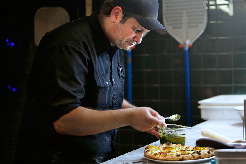 Michele Forgione in the Gema kitchen