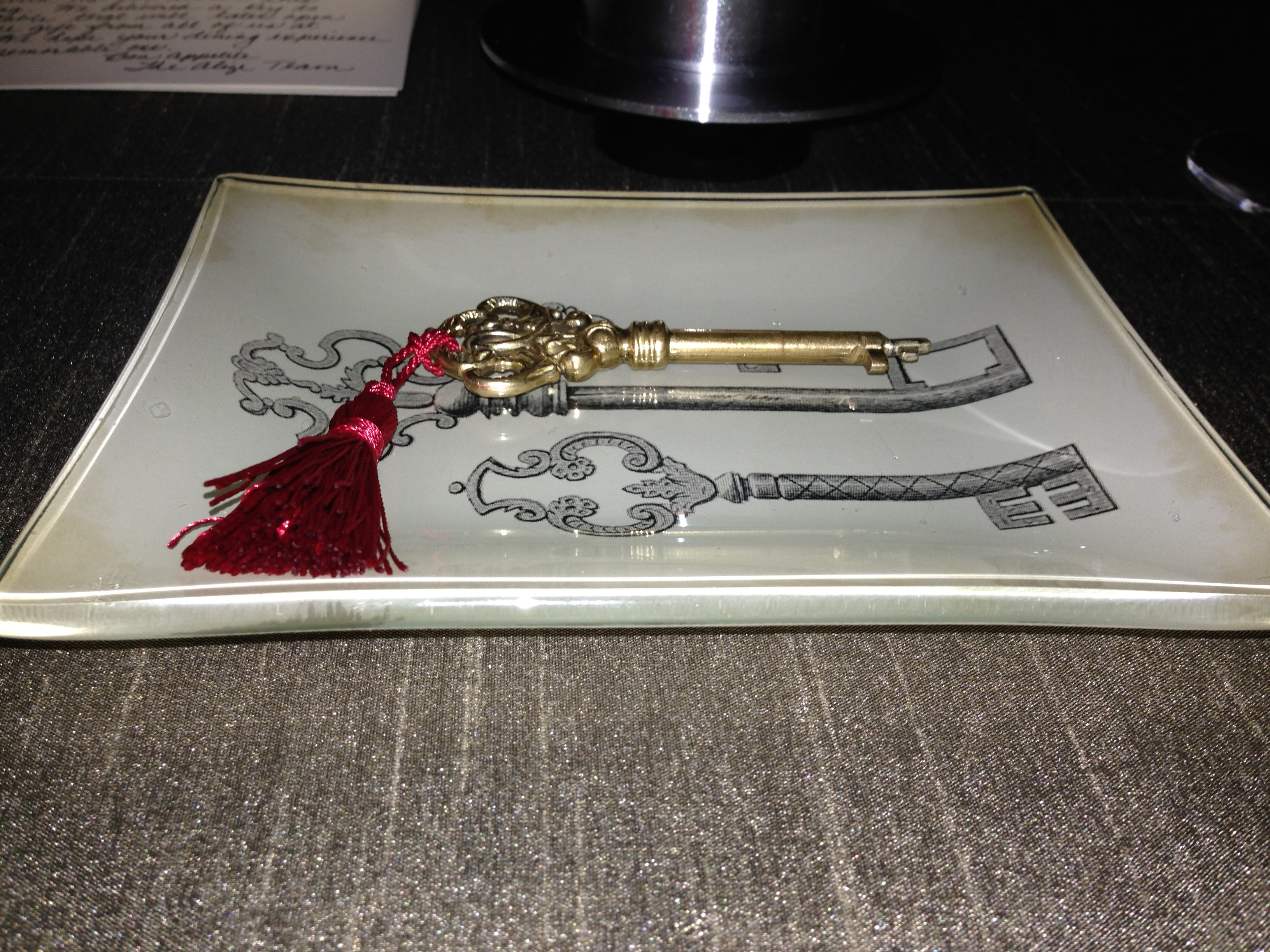 The key you are presented at Alizé for this special occasion package.