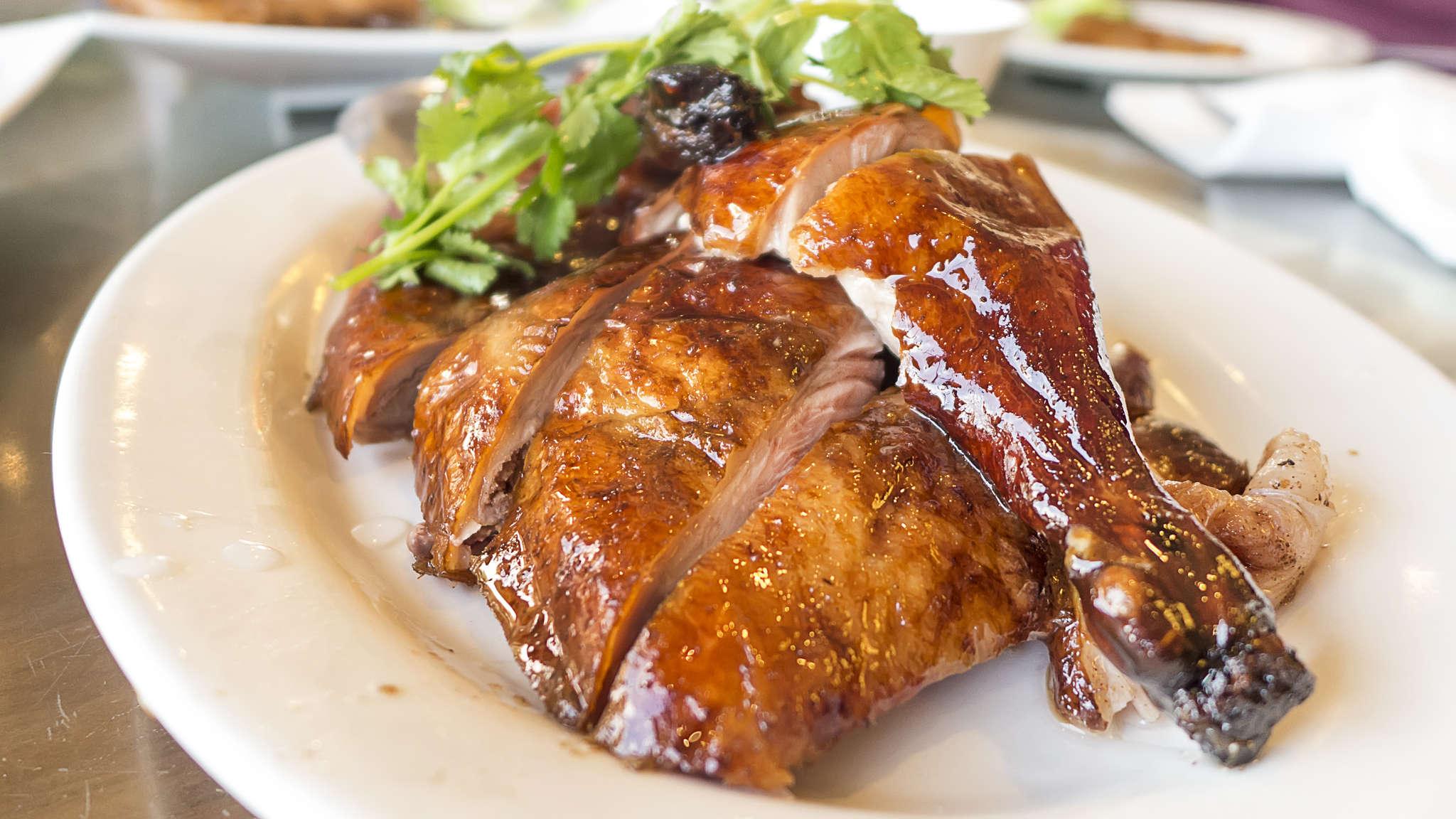 This roast duck is one of the hidden gems at under-the-radar Hong Kong Food Street.
