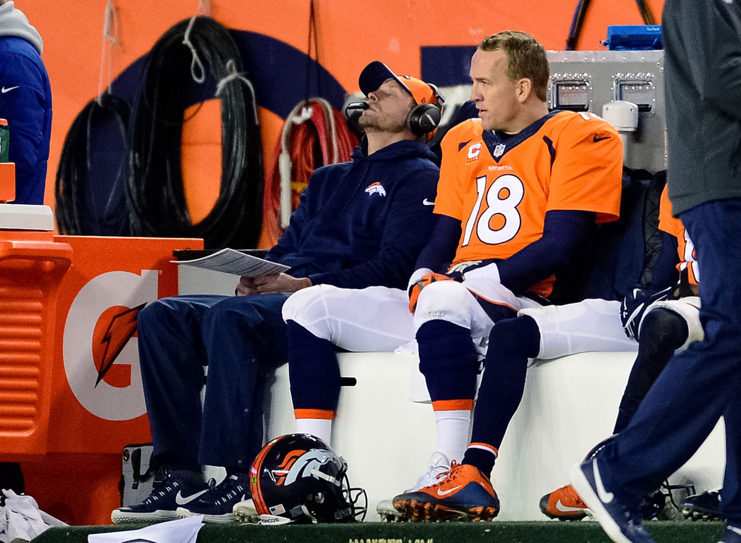 Peyton Manning and offensive coordinator Adam Gase looked lost against the Colts.