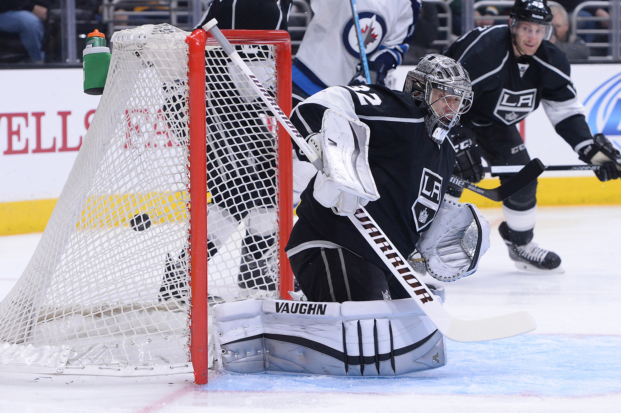 rare photograph of jonathan quick not being scor-oh wait, he's being scored on here too. nevermind