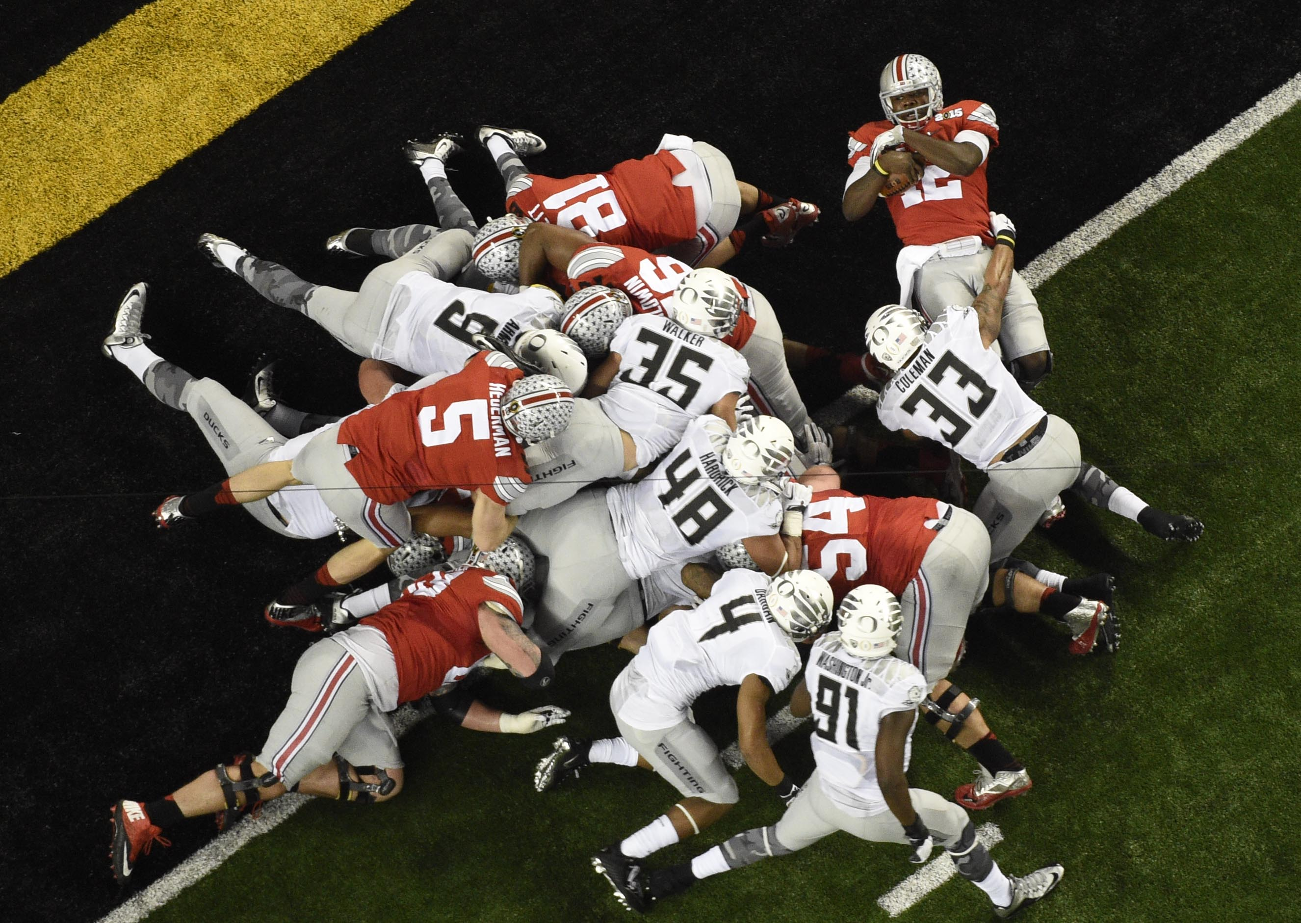 OSU Powering their way into the end zone