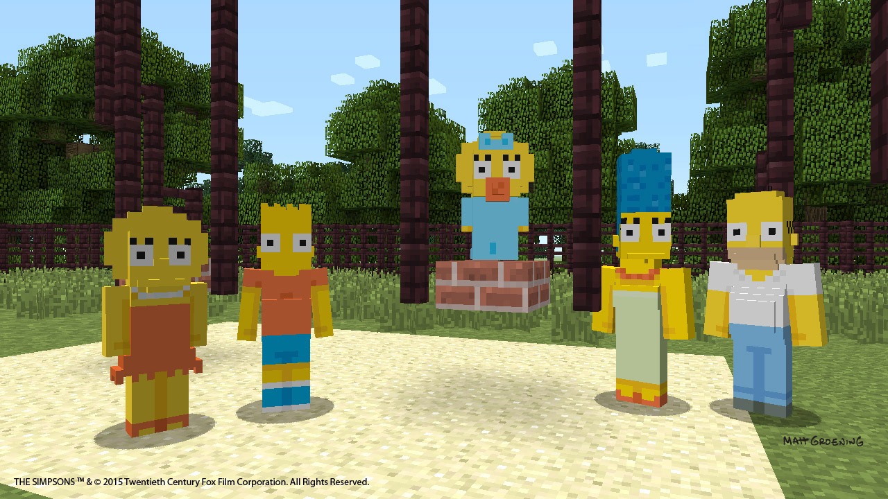 The Simpsons are coming to Minecraft