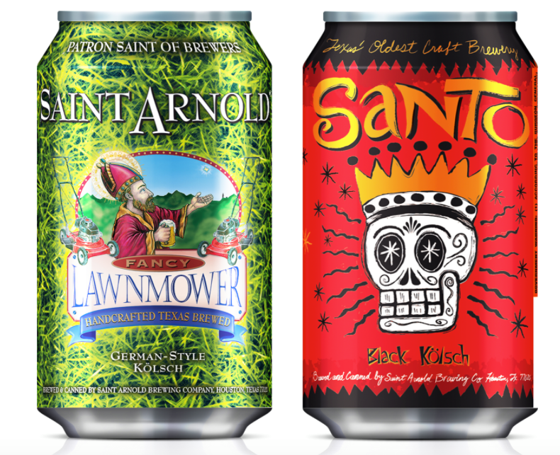 Behold, Saint Arnold's new canned beers.