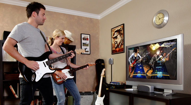Playing Rock Band together lowers stress and makes people more empathetic, study says