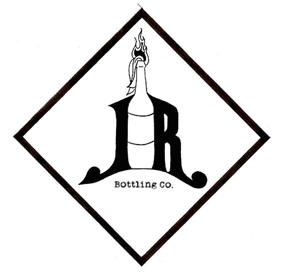 "One draft for a new Liquid Riot logo, which looks more like ""JR Bottling Co."" than ""LR Bottling Co."""