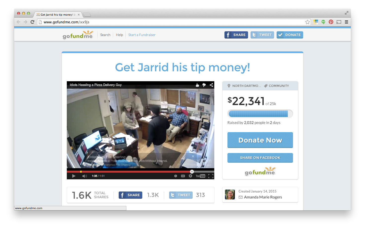 Internet Bands Together to Raise $22,000 for Stiffed Pizza Driver