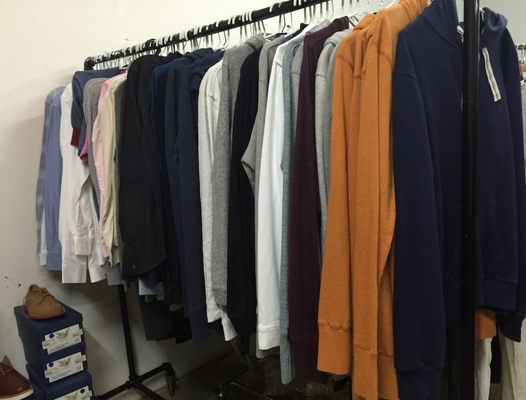Men's sweaters at the Fivestory Off-Site Sale