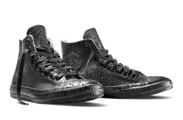 """There's no reason to rob ten banks wearing the same Chucks, but these rain Chucks are pretty cool. Image <a href=""""http://play.converse.com/blog/2014/09/02/chuck-taylor-all-star-rubber/"""">via</a>"""